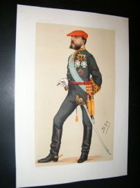 Vanity Fair Print 1876 Carlos VII, Royal